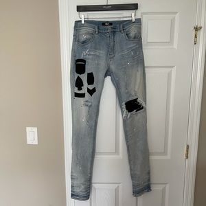 Authentic Amiri Military Distressed Patch Jeans